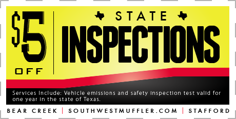 State Inspection Coupon >> Coupons Southwest Muffler Brake